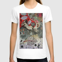 """Roofs""  Illustrated print. T-shirt"