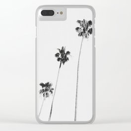 Black & White Palms Clear iPhone Case