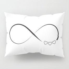 Infinity hearts symbol Pillow Sham