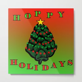 Hoppy Holidays Metal Print