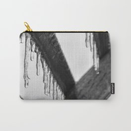 Icicles on Wood Carry-All Pouch
