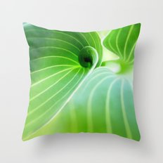 Leaves Landscape Throw Pillow