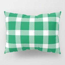 Plaid Emerald Green Pillow Sham