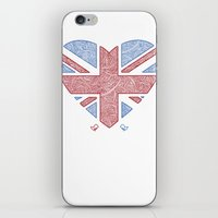 union jack iPhone & iPod Skins featuring Union Jack  by Joanne Hawker
