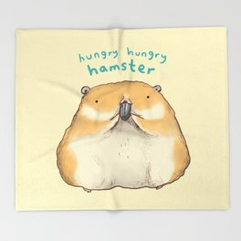Hungry Hungry Hamster Throw Blanket