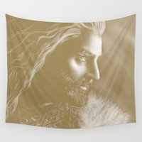 thorin Wall Tapestries featuring Thorin by Christine Tromop
