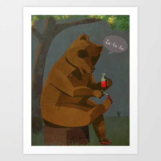 Mrs. Bear Art Print