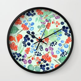 joyful berries Wall Clock