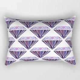 Purple Diamond Rectangular Pillow