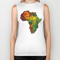 africa Biker Tanks featuring Africa by RicoMambo