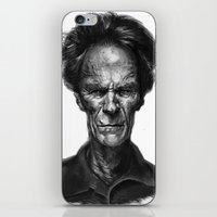 clint eastwood iPhone & iPod Skins featuring Clint Eastwood by Thomas Bryant