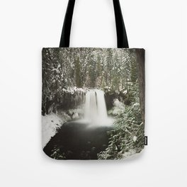 Winter Wanderlust Waterfall Tote Bag