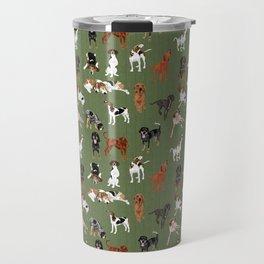 Coonhounds on Olive Travel Mug