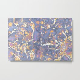 Complementary Paint Marble Metal Print