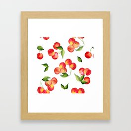 Bowl of Cherries Framed Art Print