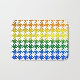 Houndstooth Large Rainbow Bevel Bath Mat