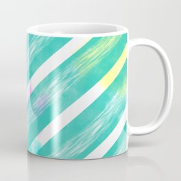 Ribbon Party - Teal and White Stripe Palette Coffee Mug