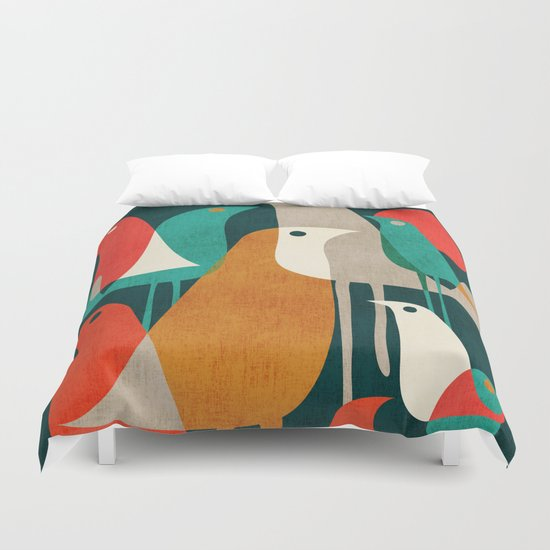 Flock of Birds Duvet Cover