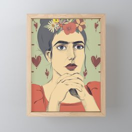 Frida love Framed Mini Art Print