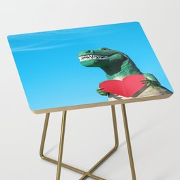 Tiny Arms, Big Heart: Tyrannosaurus Rex with Red Heart Side Table