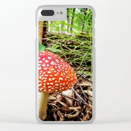 Amanita Mushroom Clear iPhone Case