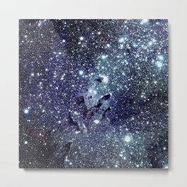The Eagle Nebula / Pillars of Creation Midnight Indigo Teal Blue Metal Print