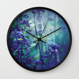 Morning Purples and Greens Wall Clock