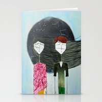 sandra dieckmann Stationery Cards featuring Sandra & Amir by Edward M.