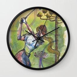 wonder shot golfer gof Wall Clock