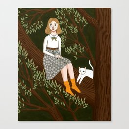 in a tree Canvas Print