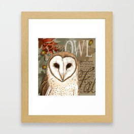 The Barn Owl Journal Framed Art Print