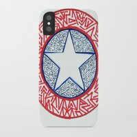 superheros iPhone & iPod Cases featuring The Shield by Katie Kephart