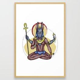 Anubis&Vishnu Framed Art Print