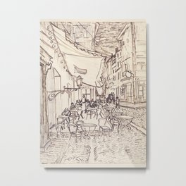 Cafe Terrace at Night (sketch) Metal Print