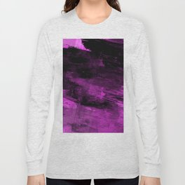 Purple Haze - Abstract, purple and black painting Long Sleeve T-shirt