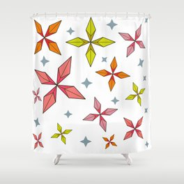 Origami Stars Shower Curtain