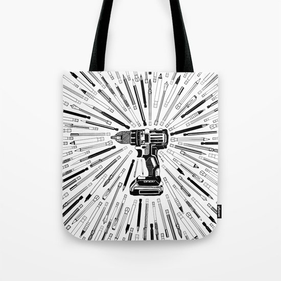 Art Power Tools Drill Bit Set Doodle Tote Bag