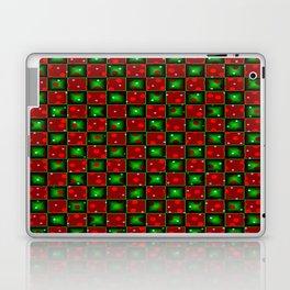 Christmas checkerd design with a twist Laptop & iPad Skin