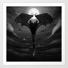 Drawlloween 2013: Bat Art Print
