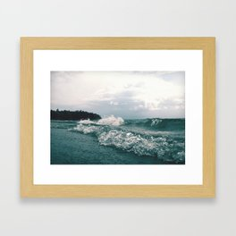 Fourth Sand Beach Framed Art Print