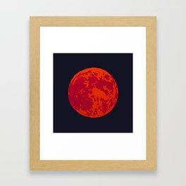Blood Moon 2 Framed Art Print