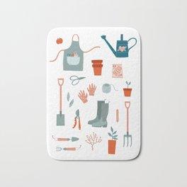 Gardening Things Bath Mat