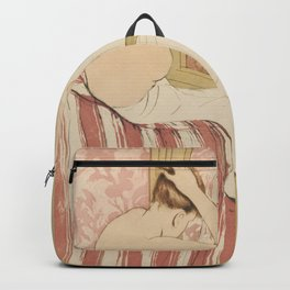 The Coiffure  by Mary Cassatt (1844-1926) Backpack