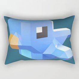 Cute low-poly Twitter bird character Rectangular Pillow