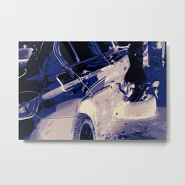 right angle wheel and rubber Metal Print