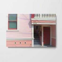 Pink House, SF Metal Print