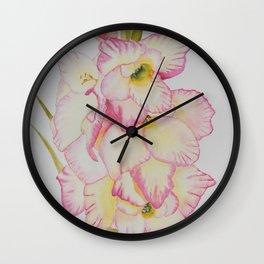 Gladiolus watercolour Wall Clock