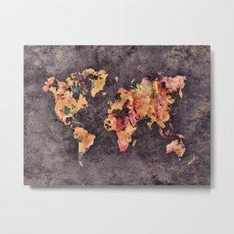 world map 68 Metal Print