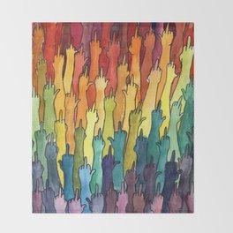 rainbow power Throw Blanket