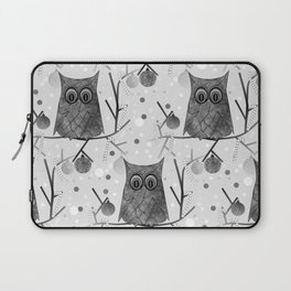 Black And White Owls Laptop Sleeve